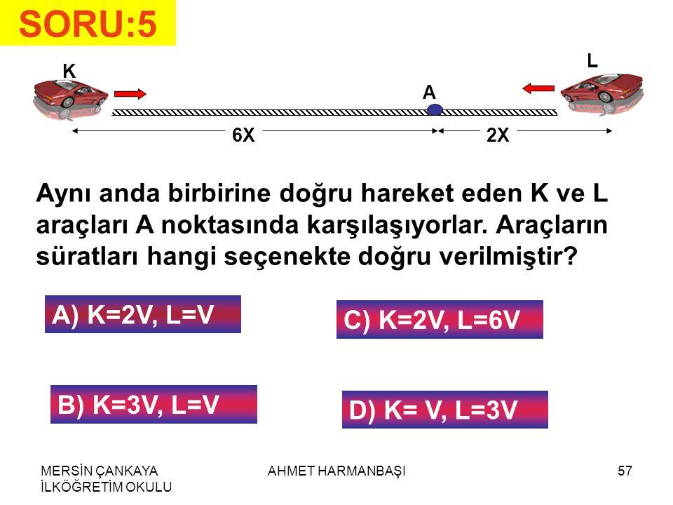 SORU:5 L. K. A. 6X. 2X.