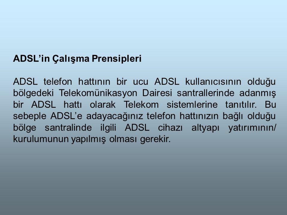 ADSL'in Çalışma Prensipleri