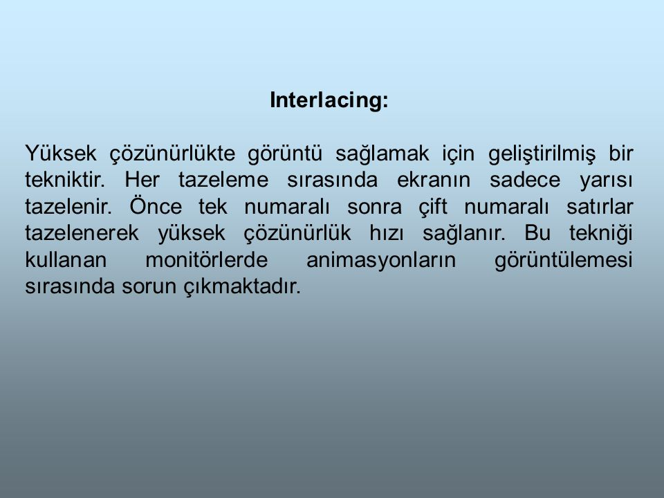Interlacing: