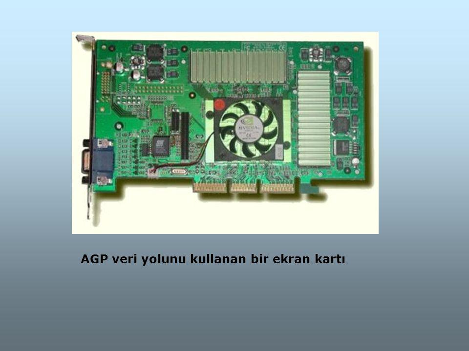 AGP veri yolunu kullanan bir ekran kartı