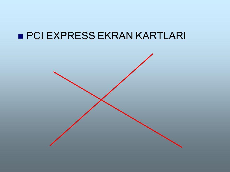 PCI EXPRESS EKRAN KARTLARI