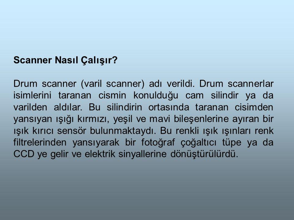 Scanner Nasıl Çalışır