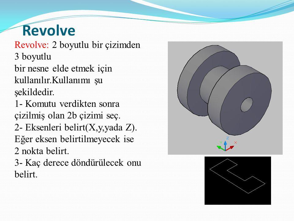 Revolve Revolve: 2 boyutlu bir çizimden 3 boyutlu