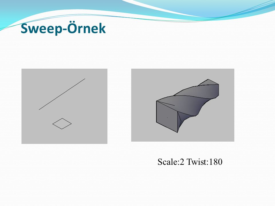 Sweep-Örnek Scale:2 Twist:180