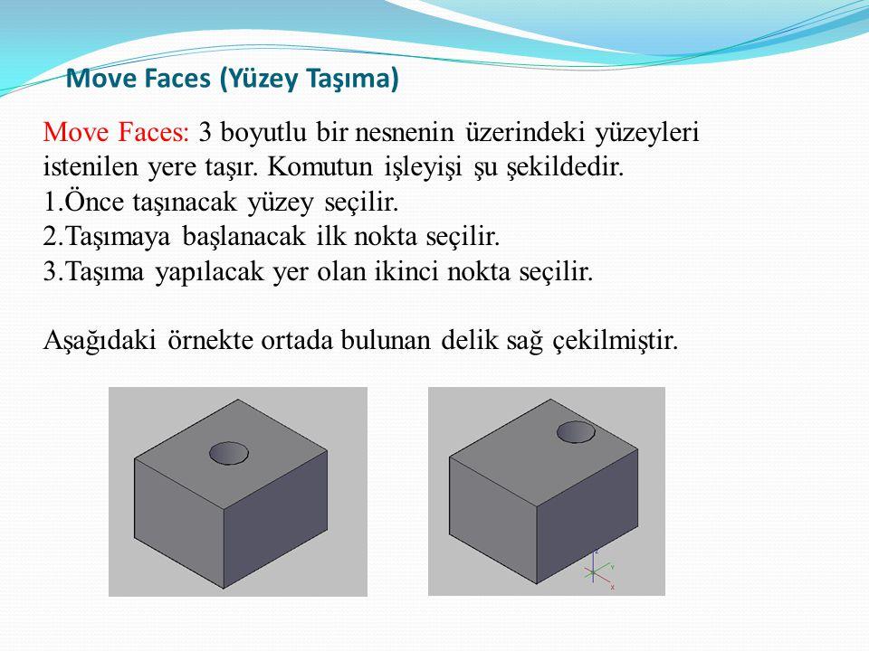 Move Faces (Yüzey Taşıma)