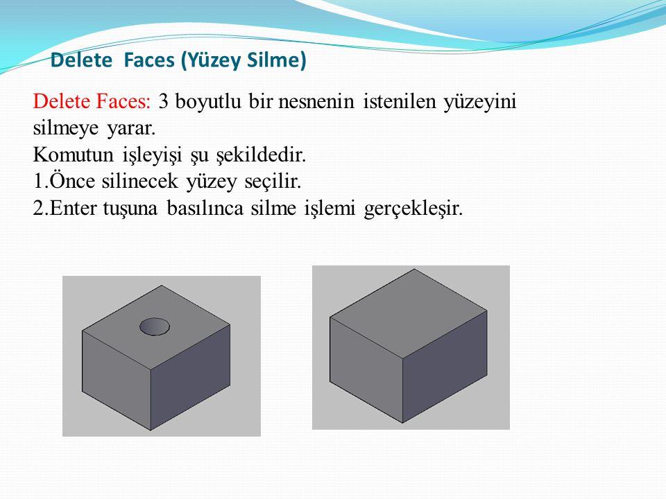 Delete Faces (Yüzey Silme)