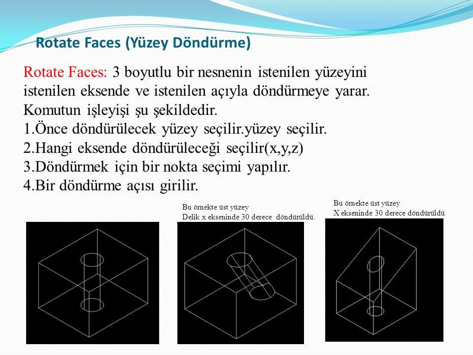 Rotate Faces (Yüzey Döndürme)
