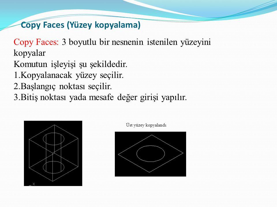 Copy Faces (Yüzey kopyalama)