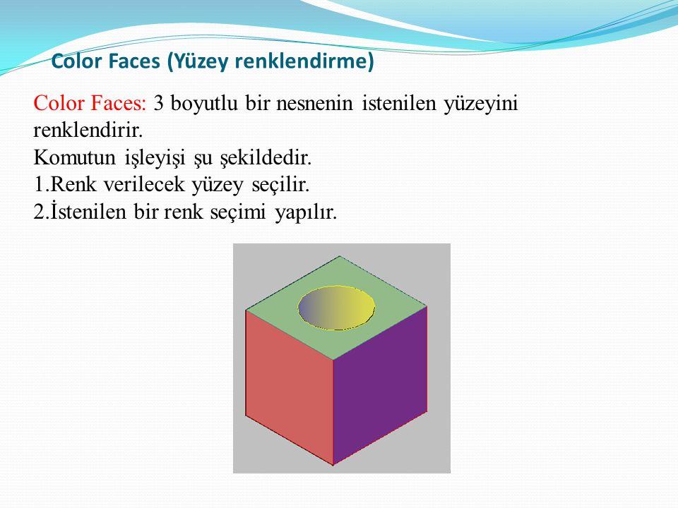 Color Faces (Yüzey renklendirme)