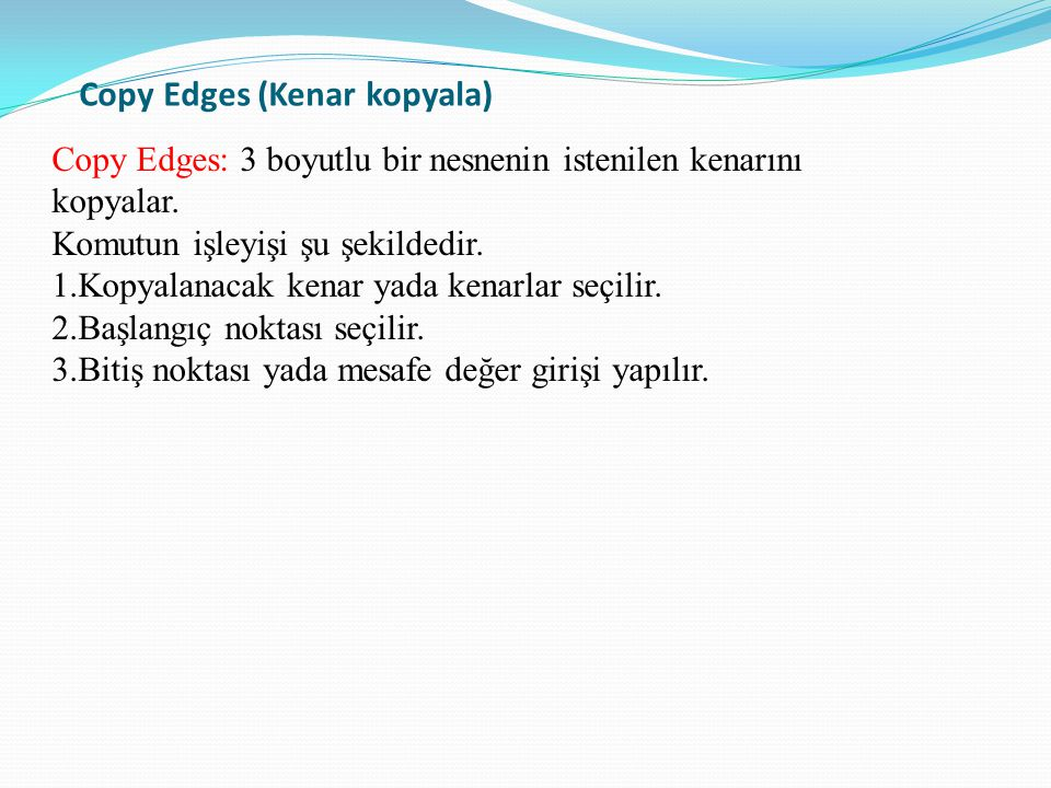 Copy Edges (Kenar kopyala)