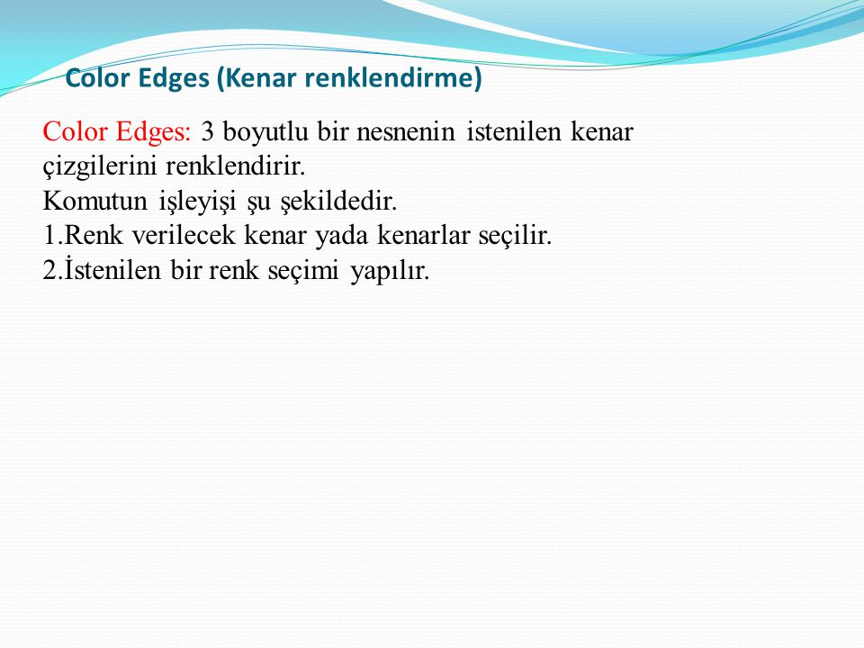 Color Edges (Kenar renklendirme)