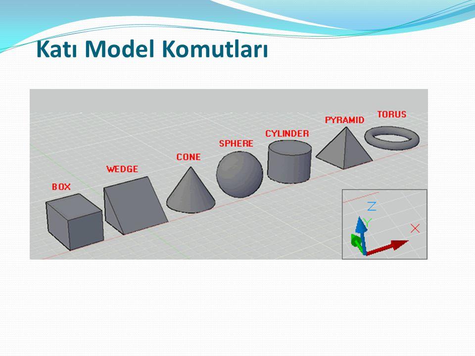 Katı Model Komutları