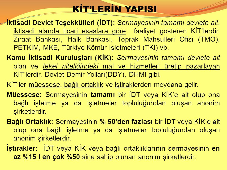 KİT'LERİN YAPISI