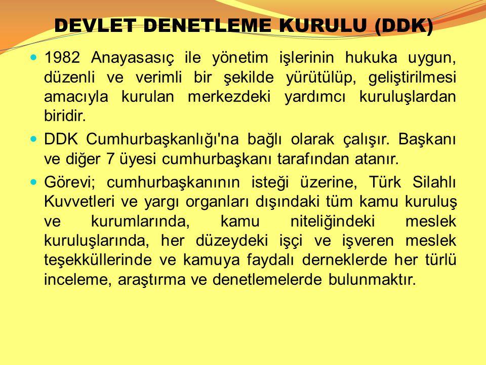 DEVLET DENETLEME KURULU (DDK)