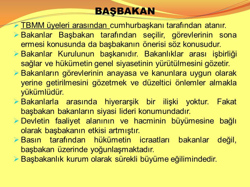 BAŞBAKAN TBMM üyeleri arasından cumhurbaşkanı tarafından atanır.