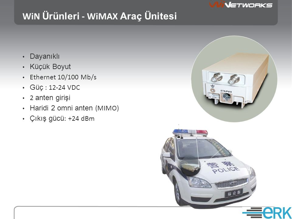 WiN Ürünleri - WiMAX Araç Ünitesi