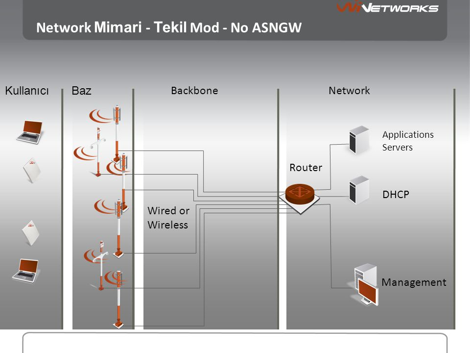 Network Mimari - Tekil Mod - No ASNGW