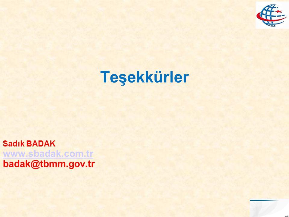Sadık BADAK www.sbadak.com.tr badak@tbmm.gov.tr