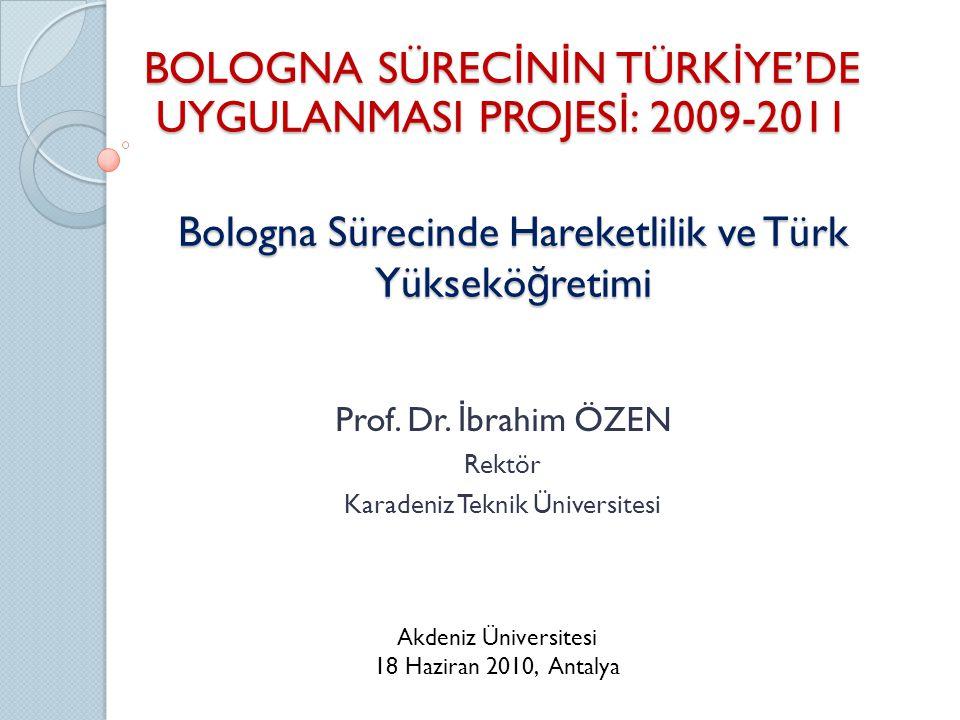 Bologna Sürecinde Hareketlilik ve Türk Yükseköğretimi