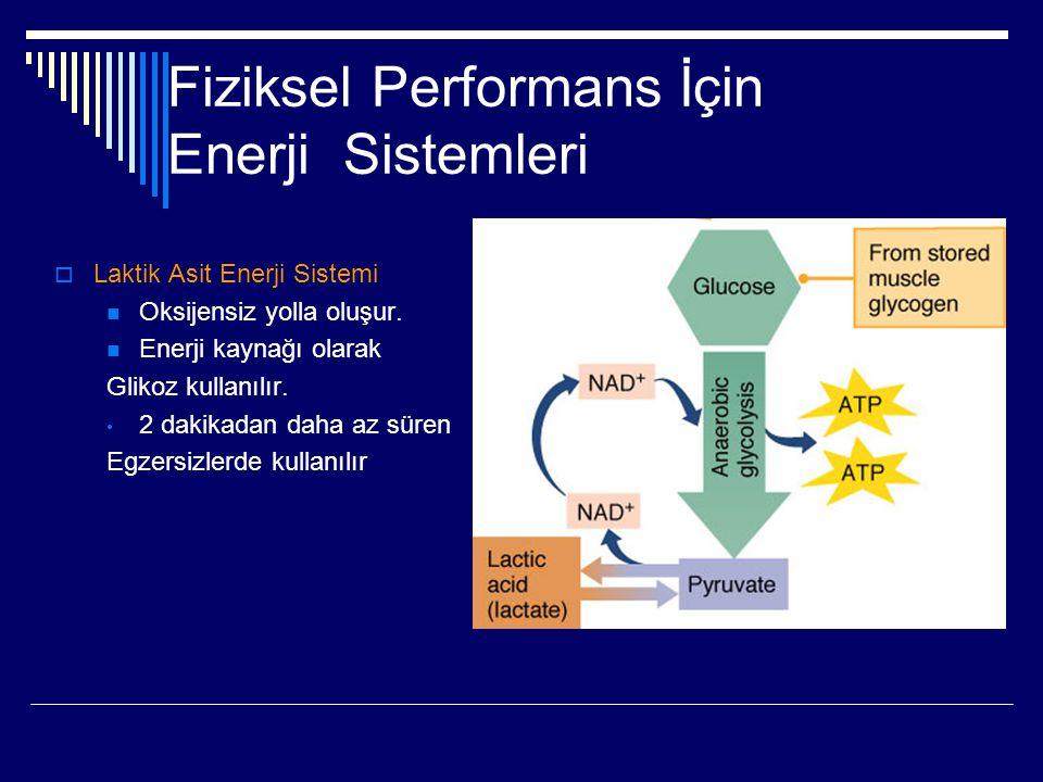 Fiziksel Performans İçin Enerji Sistemleri