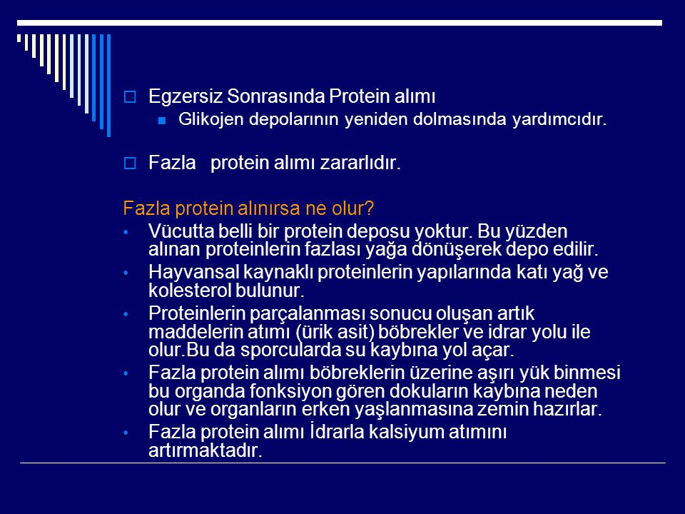 Egzersiz Sonrasında Protein alımı