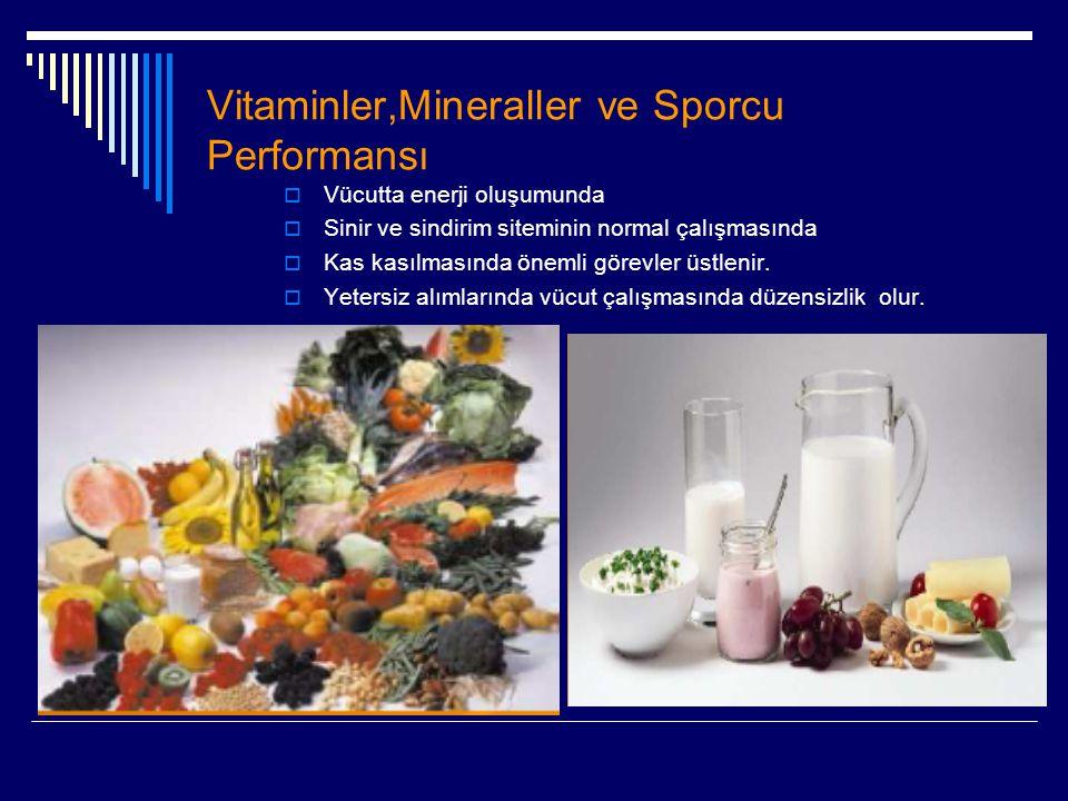 Vitaminler,Mineraller ve Sporcu Performansı