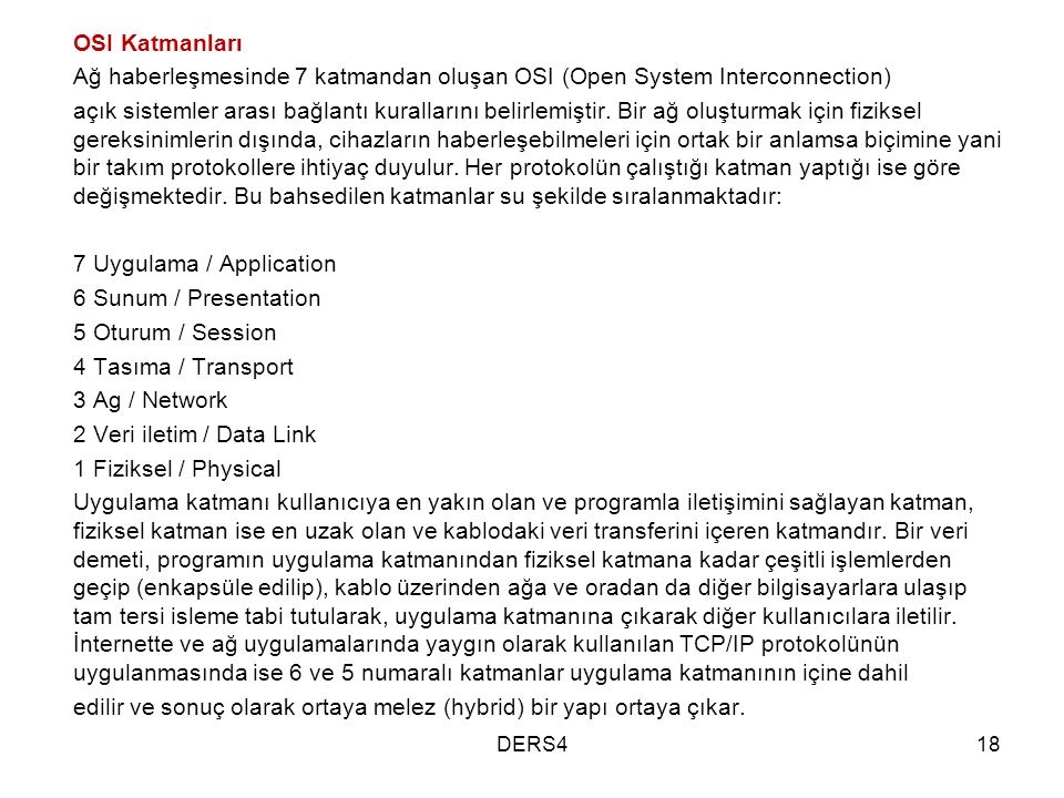 7 Uygulama / Application 6 Sunum / Presentation 5 Oturum / Session