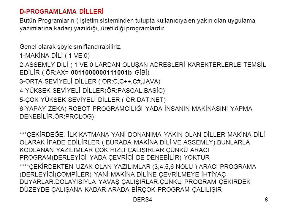 D-PROGRAMLAMA DİLLERİ