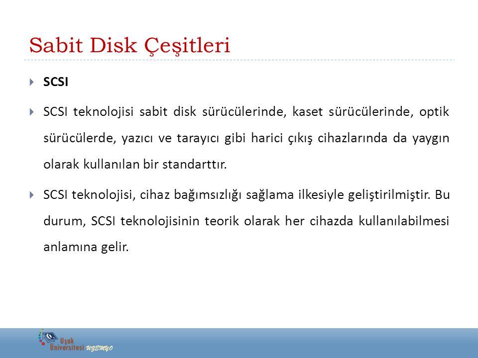 Sabit Disk Çeşitleri SCSI