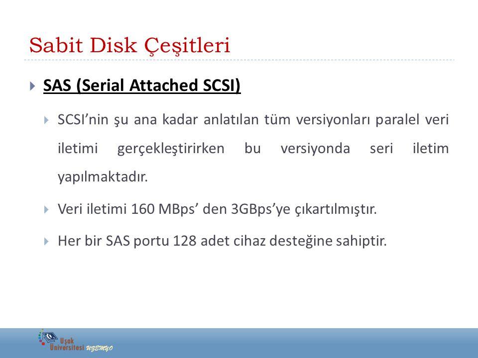 Sabit Disk Çeşitleri SAS (Serial Attached SCSI)