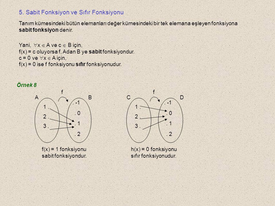 5. Sabit Fonksiyon ve Sıfır Fonksiyonu