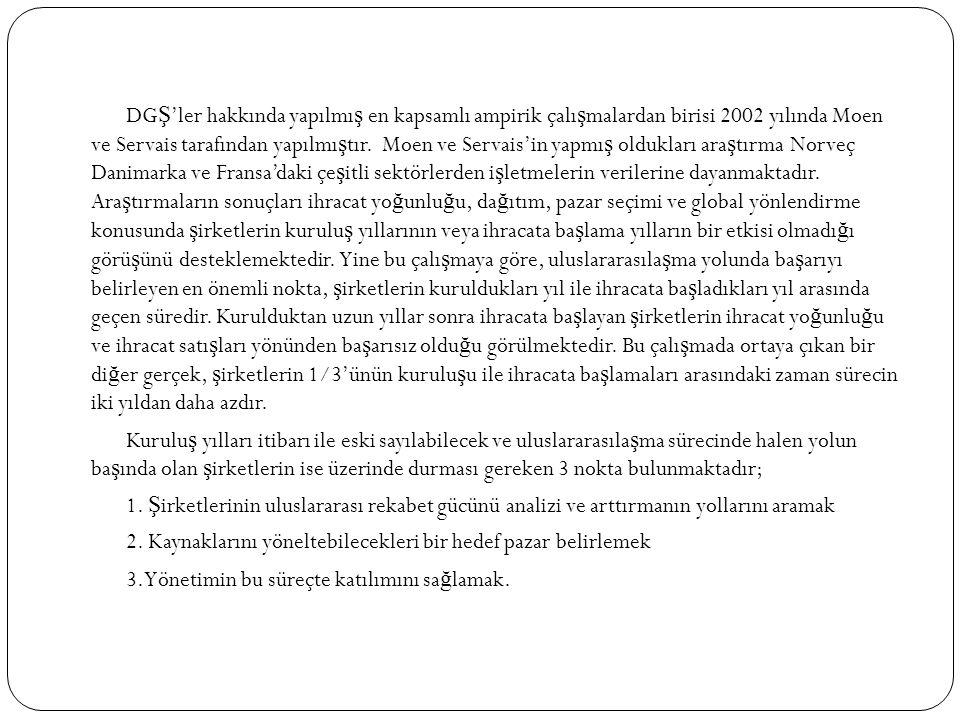DGŞ'ler hakkında yapılmış en kapsamlı ampirik çalışmalardan birisi 2002 yılında Moen ve Servais tarafından yapılmıştır.
