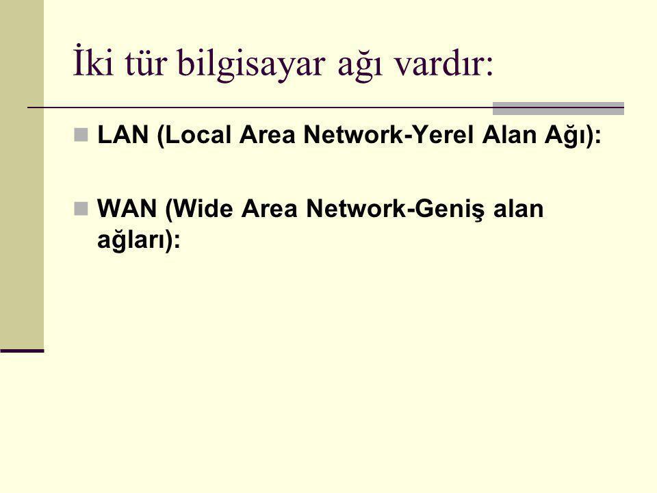 İki tür bilgisayar ağı vardır: