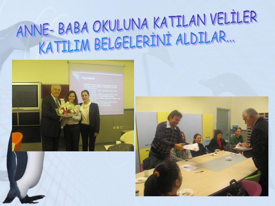 ANNE- BABA OKULUNA KATILAN VELİLER KATILIM BELGELERİNİ ALDILAR...