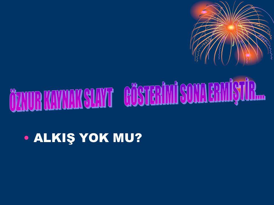 ÖZNUR KAYNAK SLAYT GÖSTERİMİ SONA ERMİŞTİR....