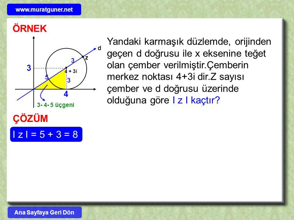 www.muratguner.net ÖRNEK. d. 4 + 3i.
