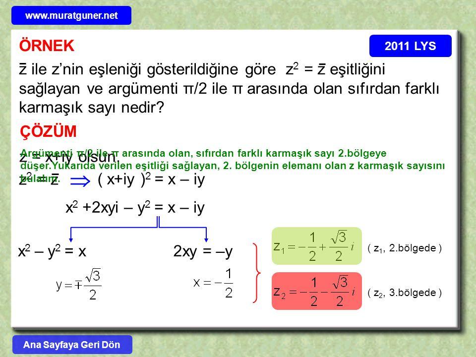 www.muratguner.net ÖRNEK. 2011 LYS.