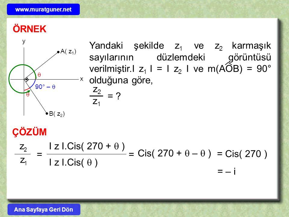 www.muratguner.net ÖRNEK. A( z1) B( z2) x. y.