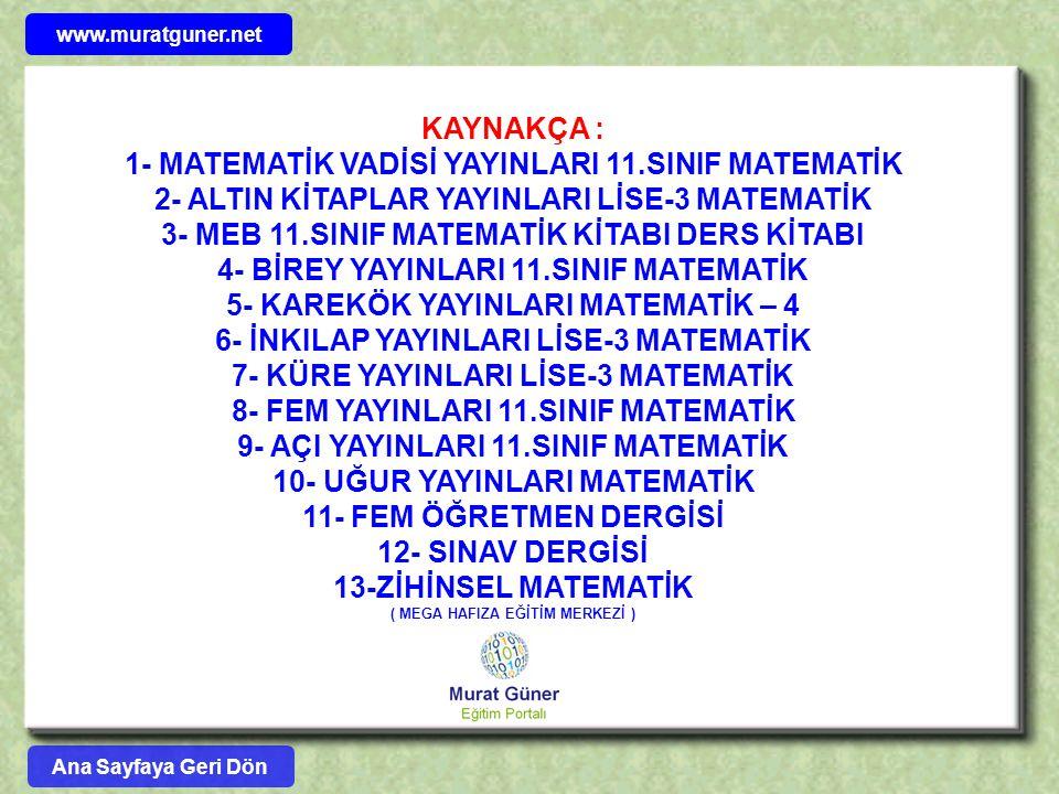 1- MATEMATİK VADİSİ YAYINLARI 11.SINIF MATEMATİK