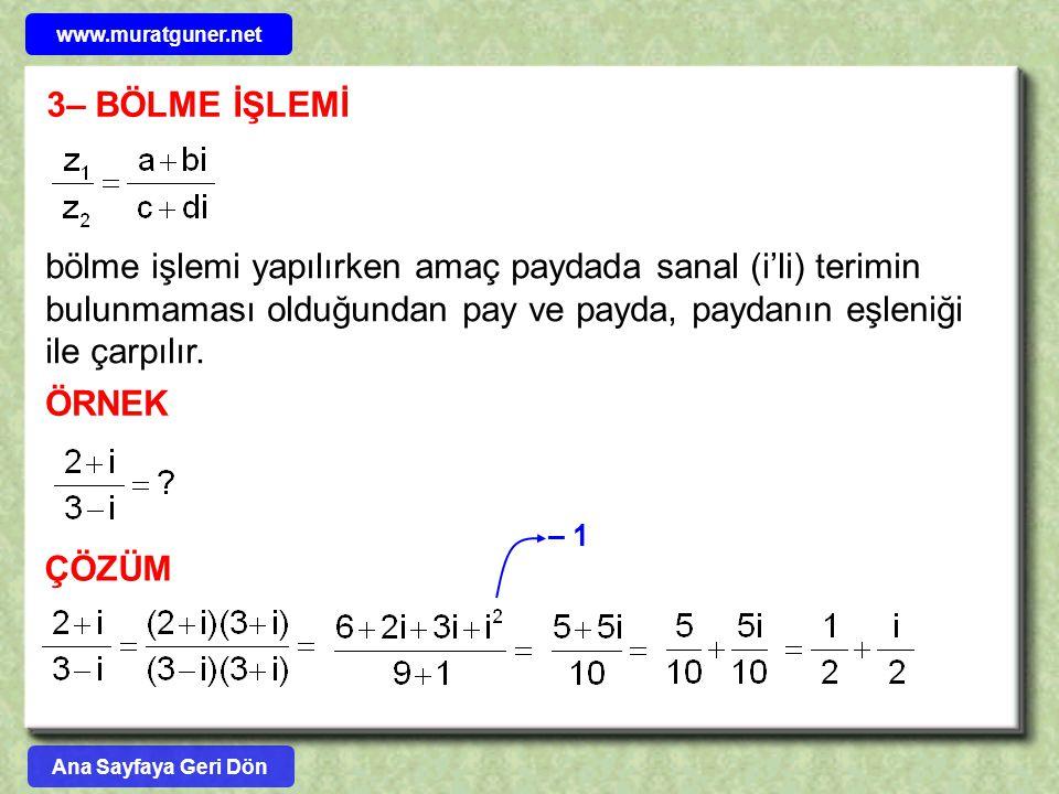 www.muratguner.net 3– BÖLME İŞLEMİ.