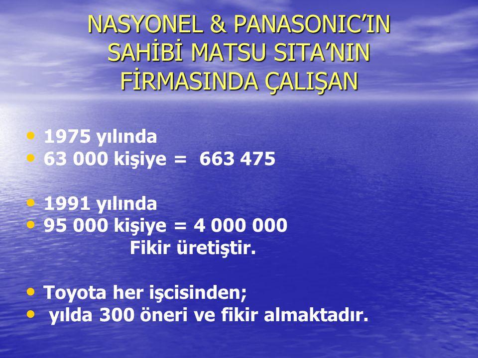 NASYONEL & PANASONIC'IN SAHİBİ MATSU SITA'NIN FİRMASINDA ÇALIŞAN