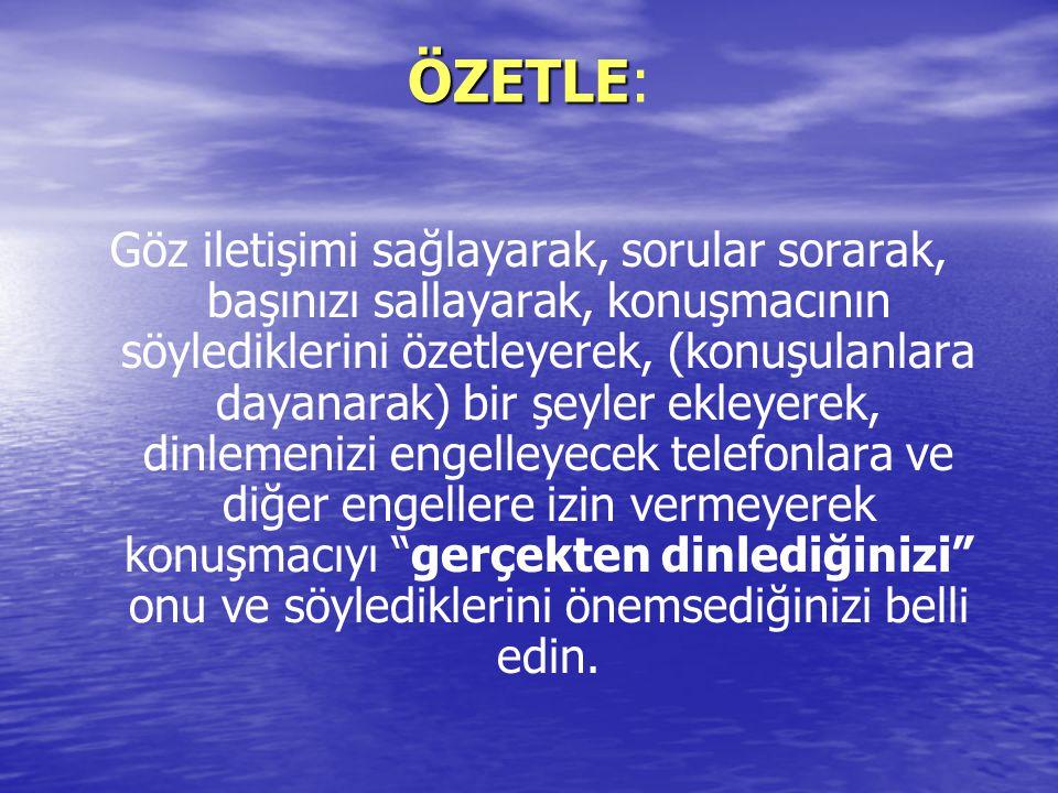 ÖZETLE:
