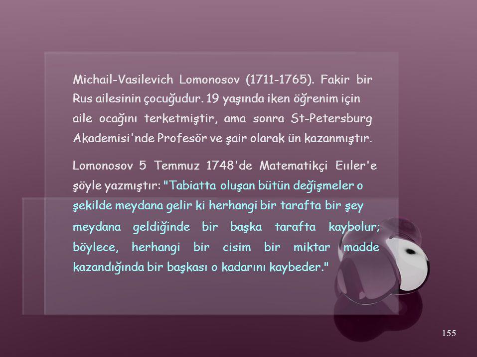 Michail-Vasilevich Lomonosov (1711-1765). Fakir bir