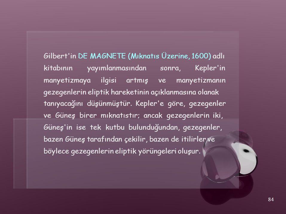 Gilbert in DE MAGNETE (Mıknatıs Üzerine, 1600) adlı