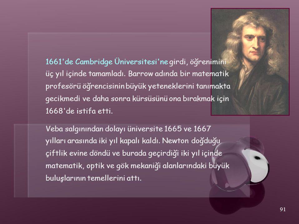 1661 de Cambridge Üniversitesi ne girdi, öğrenimini