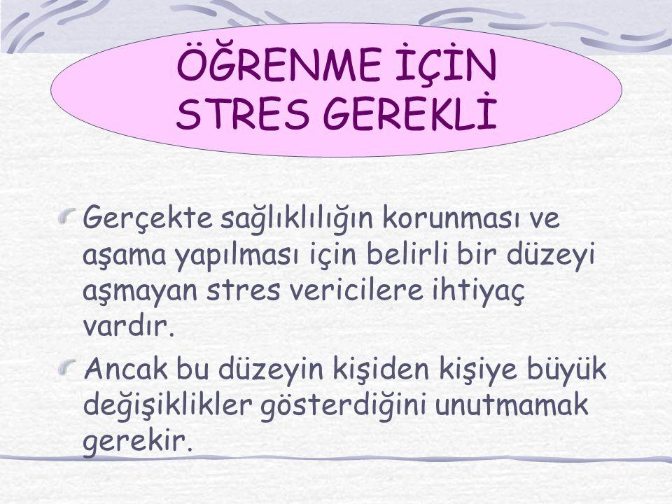 ÖĞRENME İÇİN STRES GEREKLİ