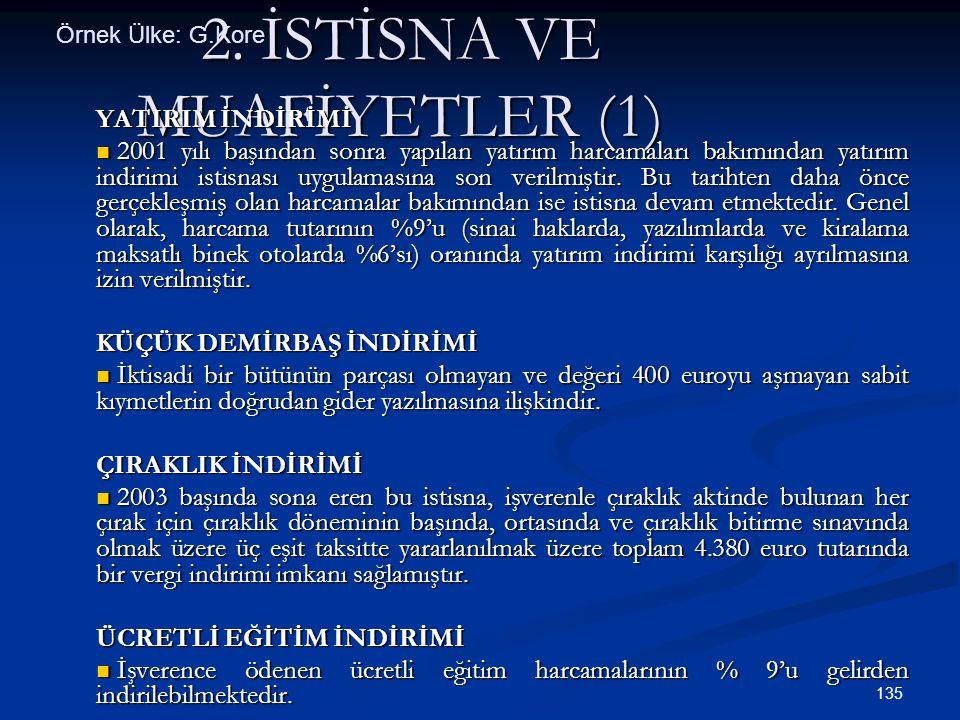 2. İSTİSNA VE MUAFİYETLER (1)