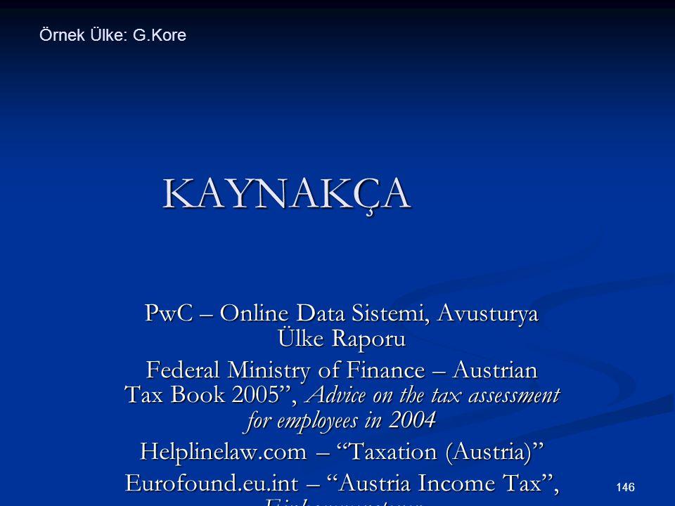 KAYNAKÇA PwC – Online Data Sistemi, Avusturya Ülke Raporu