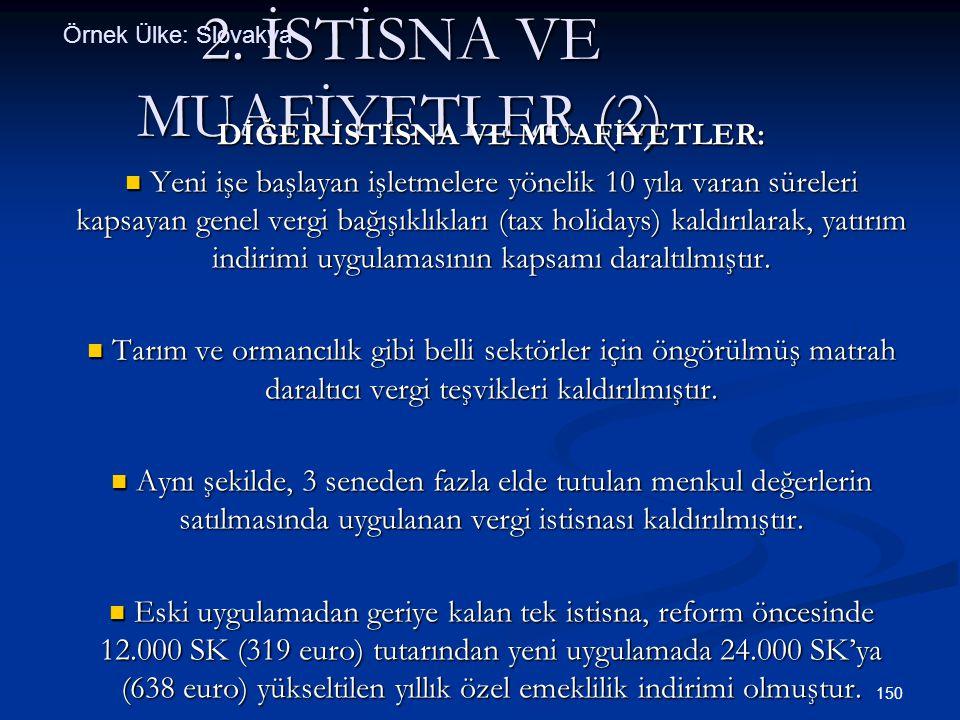 2. İSTİSNA VE MUAFİYETLER (2)