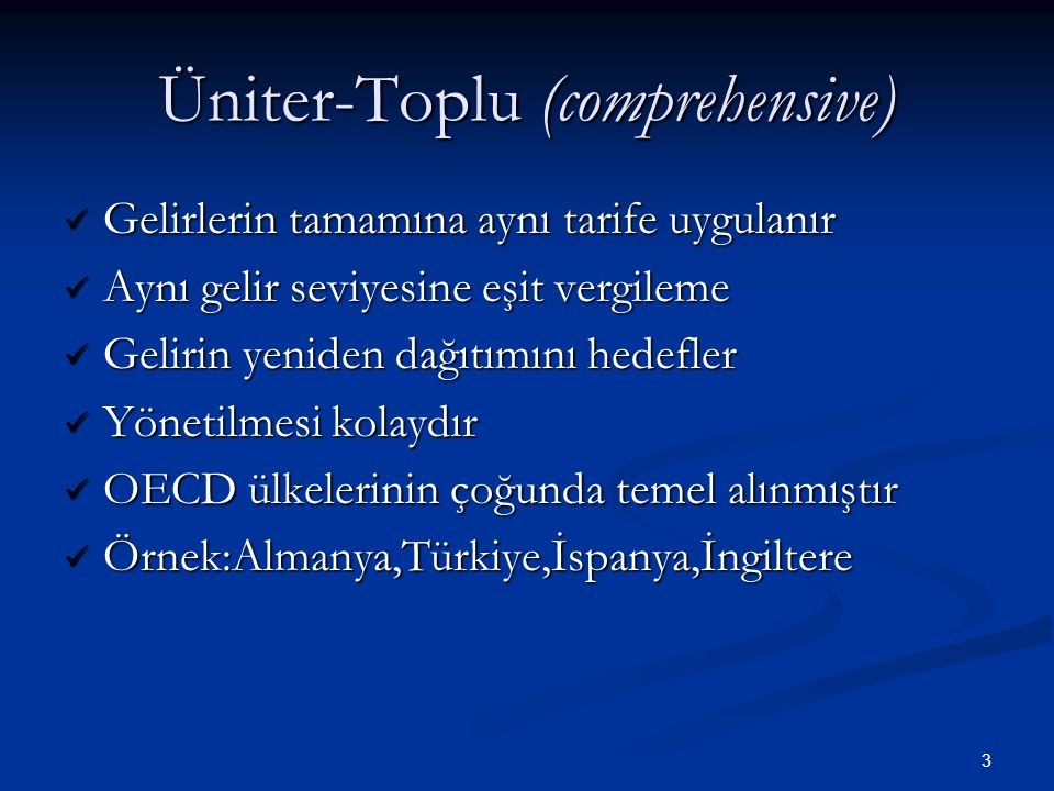 Üniter-Toplu (comprehensive)